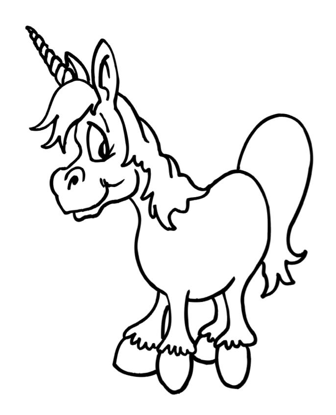4 cute unicorn 1 - Colouring In Stencils